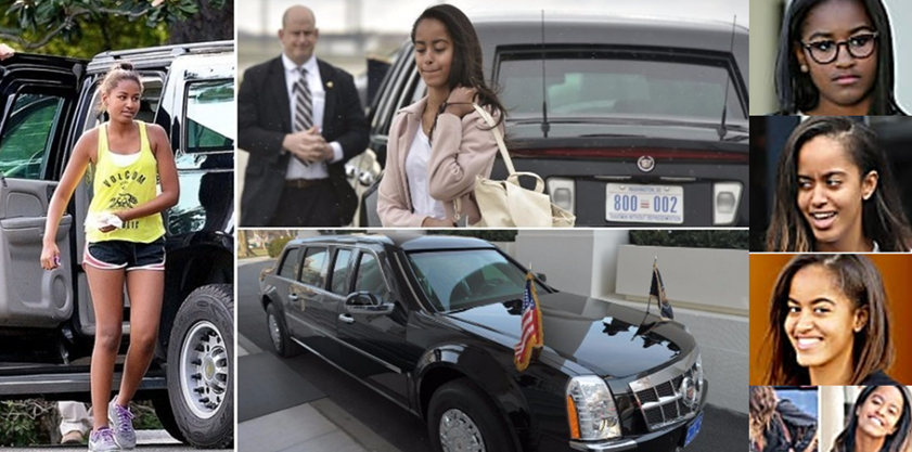 "Malia And Sasha Obama – ""The Beast"" Or ""Limousine One"" Estimated 1.5M"