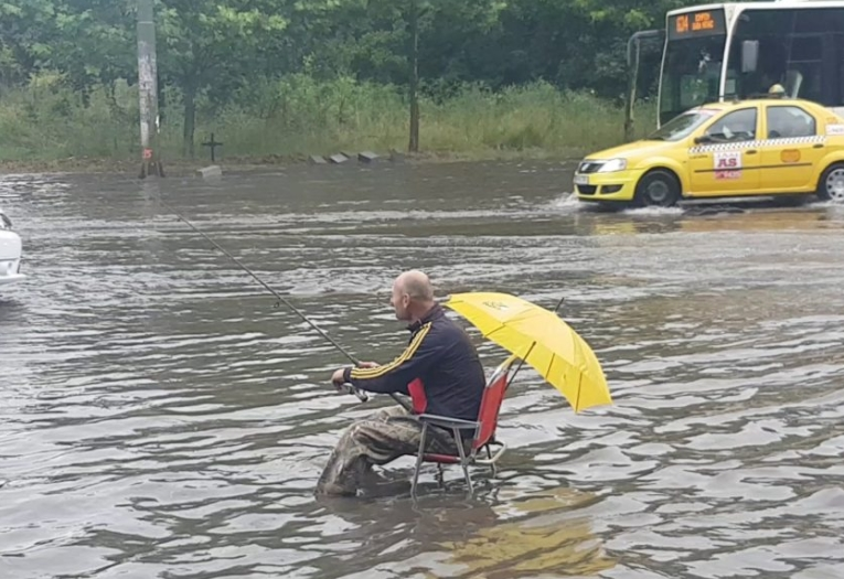 Fishing In The Flood