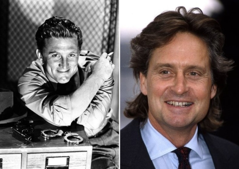 Kirk Douglas And Michael Douglas – In Their 30s