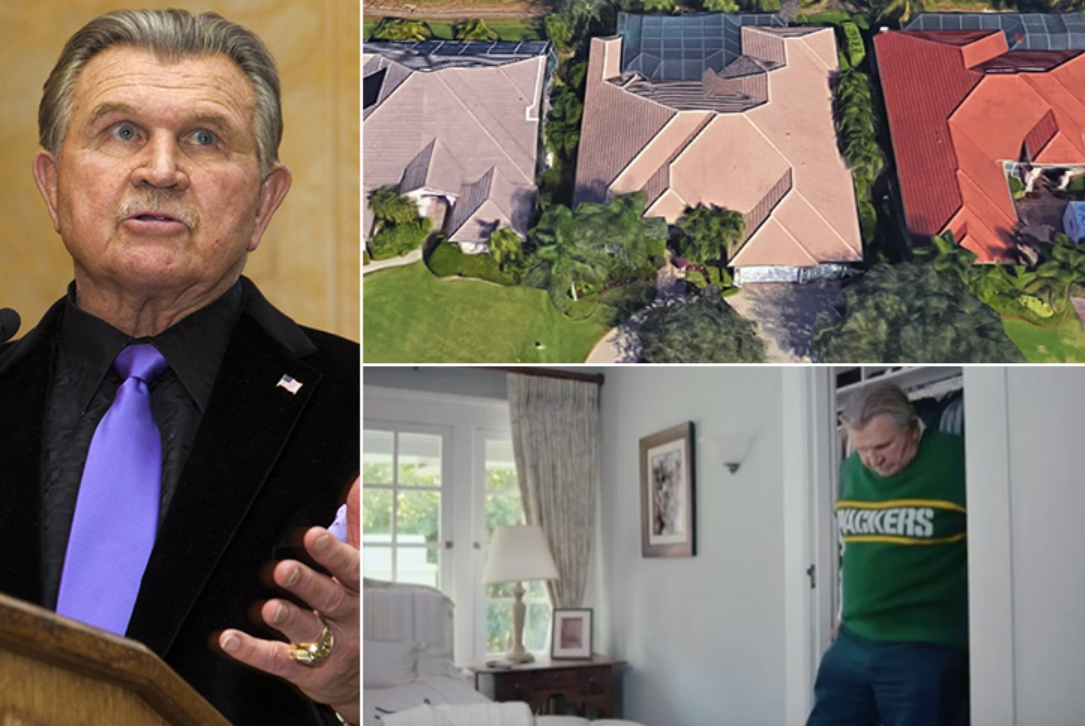 Mike Ditka – Estimated $3 Million, Florida